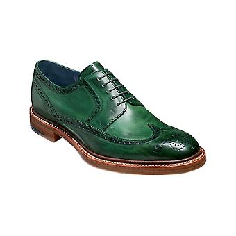 Barker Bailey 2 - Green Hand Painted | Mens Handmade Leather Derby Brogue | Barker Shoes