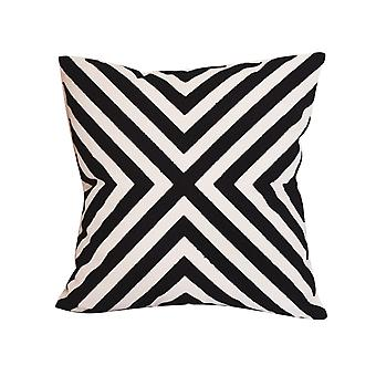 YANGFAN Modern Homes Embroidered Pillow
