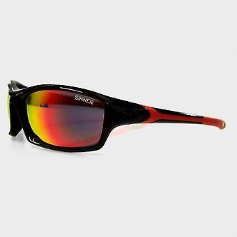 Sinner Eaton zonnebril (Shiny Black / Red Revo)