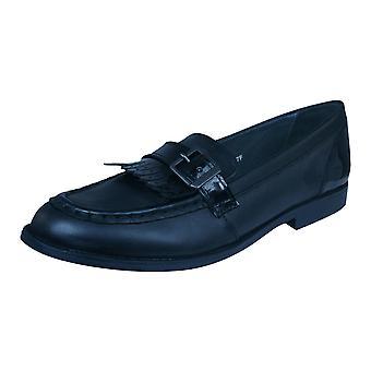 Start Rite Stowe piger læder Slip på skolen sko - sort
