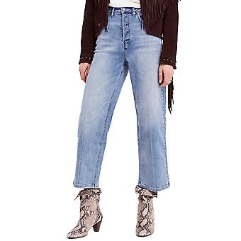 Free People | Wide Leg High-Waisted Cropped Jeans
