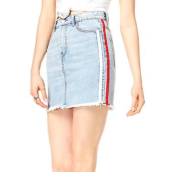 Kendall + Kylie | Side-Stripe Denim Skirt