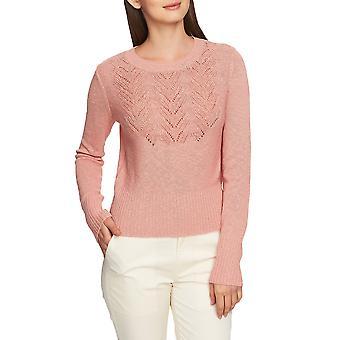1.State | Pointelle-Yoke Long-Sleeve Sweater