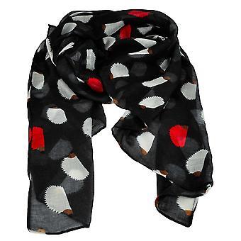 Ties Planet Hedgehog Animal Print Sort Letvægts Kvinder's sjal tørklæde