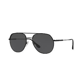 Prada SPR55U 1AB/5S0 Czarne/Szare okulary przeciwsłoneczne