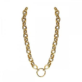 Nikki Lissoni Large Link 48cm Gold Plated Chain Colar N1001G48
