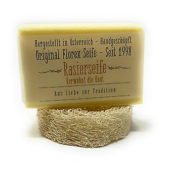 Florex shaving soap fragrance of alpine herbs and lavender from vegetable oils + Luffa shelf 90 g