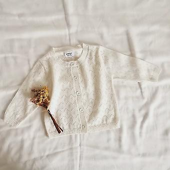 Spring Baby, Hollow Knitted Sweater, Long Sleeves Jackets