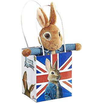 Peter Rabbit Movie Soft Toy in Union Jack Bag