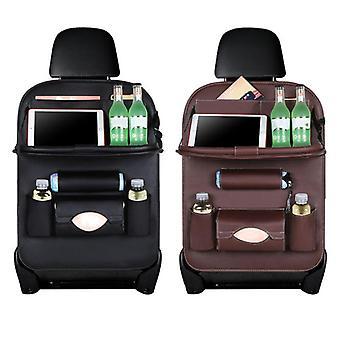 Baby bil sæde opbevaring hængende taske læder bælte bakke folde folde foldeplade bil