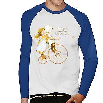 Holly Hobbie Onnellisimmat ajat jaetaan ystävän kanssa Men's Baseball Pitkähihainen T-paita