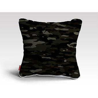 Dark camouflage pattern plakat cushion/pillow