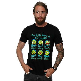 Absolute Cult Men's Rick And Morty Not Schwifty Mood T-Shirt