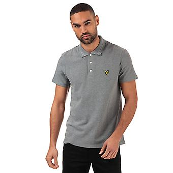 Men's Lyle And Scott Wide Tipped Polo Shirt in Grey