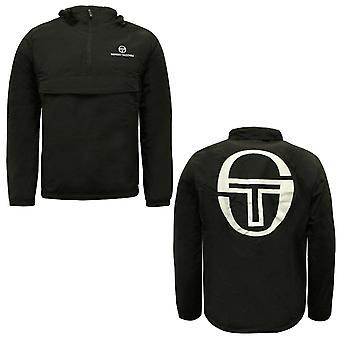 Sergio Tacchini Import Half Zip Up Mens Coat Outdoor Jacket Svart 38096 166 A52C