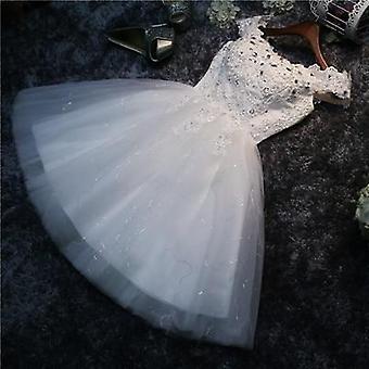 Bohrer Schnürung, kurze Abschlussball, Brautkleid