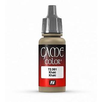 Vallejo Game Color 17ml Acrylic Paint 61 Khaki