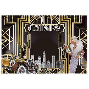 Allenjoy 7x5ft tesatura durabile gatsby fundal mare tematice pentru adult celebrare retro roaring 1