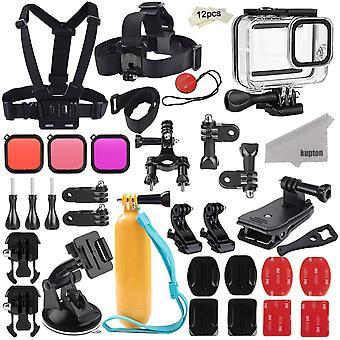 Kupton accessories kit for gopro hero 8 black accessory bundle set, waterproof housing case + filter