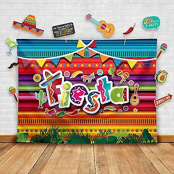 Summer fiesta theme photography backdrop and studio props diy kit. great as mexican dress-up photo b