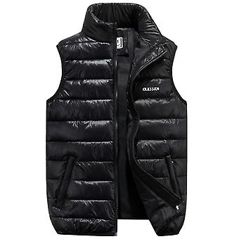 Winter Warm Sleeveless Jacket Vest Casual Thick Cotton-padded Waistcoat Vest