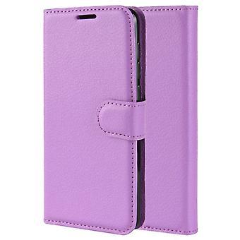 Folio Iskunkestävä lompakko nahka kuori kotelo Honor 20 - Violetti