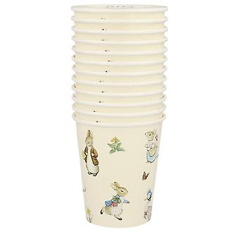 Peter Rabbit & Friends Paper Party Cups Christening / Birthday x 12