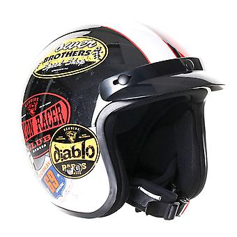Stealth HD320 Colour Adult Open Face Helmet - White