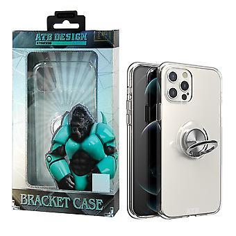 iPhone 12 Pro Max-fodral transparent med ring och magnet
