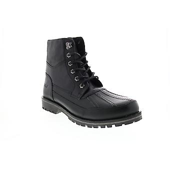 Andrew Marc Otis  Mens Black Synthetic Casual Dress Boots