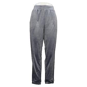 Carole Hochman Women's Pants Silky Stretch Velour Gray A381873