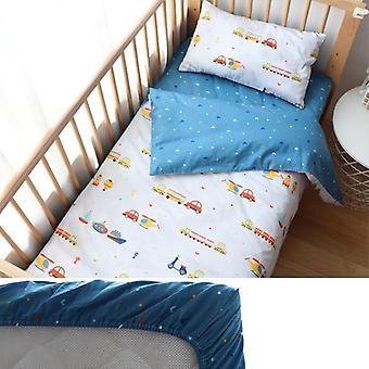 Baby-Bettwäsche-Set für Neugeborene, Stern-Muster-Bettwäsche-Kissen-Bett-Blatt