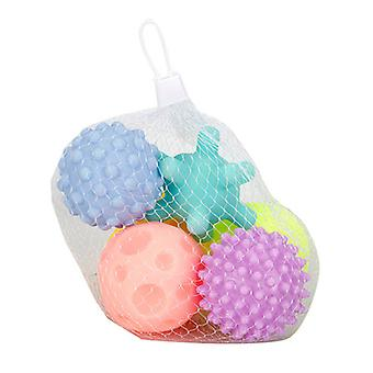 6 Pack Sensory Balls Spray Water Toy For Baby And Kids, Massage Soft Textured Balls Set