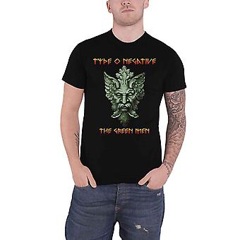 Type O Negative T Shirt The Green Men Band Logo new Official Mens Black
