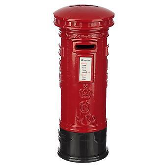 תיבת כסף לעיפרון מזכרות בלונדון - תיבת דואר אדומה גדולה