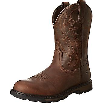 Ariat Men's Shoes Groundbreaker Leather Closed Toe Mid-Calf Western Boots