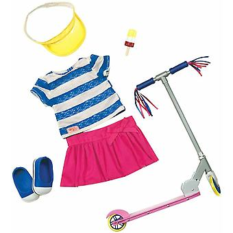 Our generation dolls cute to scoot doll deluxe scooter outfit