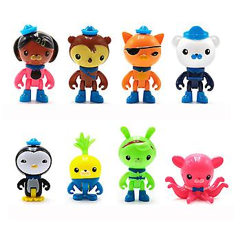 8st De Octonauts Figuur Set Barnacles Toy Doll Kwazii Figuur Speelgoed Peso Anime Doll Model
