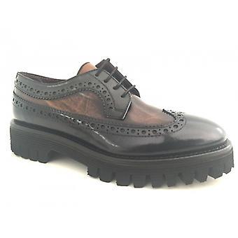 Shoes Women's Gas Barbato Francesina Two-tone Blue Leather Tank D16nb09