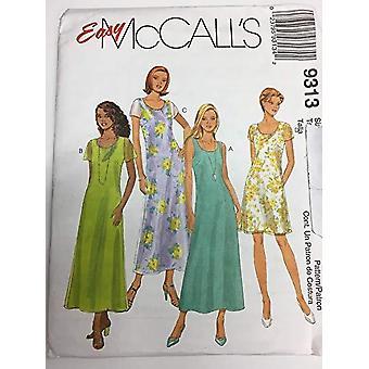 McCalls Schnittmuster 9313 Misses Kleid zwei Längen Größe 4-8 ungeschnitten