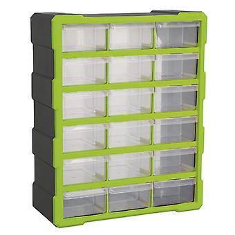 Sealey Apdc18Hv Kabinett Feld 18 Schublade - Hi-Vis grün/schwarz