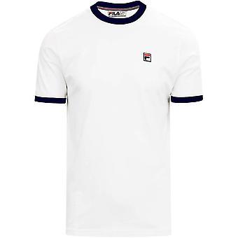 FILA Marconi Ringer T-Shirt - White/Peacoat