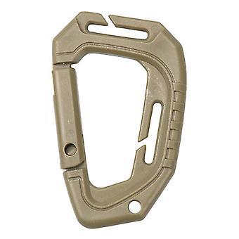 Stor D-typ plast, stål, taktisk moll snabbkrok, hängande spänne, klipp,