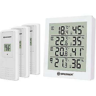 weather station Temeo Hygro Quadro12 cm white 4-piece