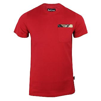 Barbour mens chilli red durness t-shirt