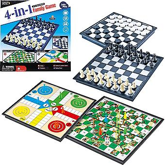 4i1 Magnetic Board Family Games Fia Schack Snakes Dam