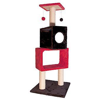 Arquivet Red And Black Scraper 50X50X124Cm (Katten , Speelgoed , Krabpalen)
