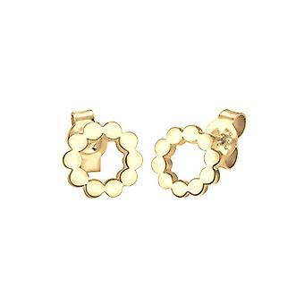 Elli Circle Geo Minimal cirkel øreringe, i sølv 925 og Sølv, farve: guld, torsk.