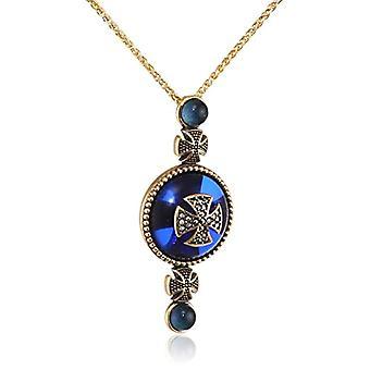 MISIS Women-Silver Artificial Necklace 925 Marcasite Quartz 49.5 cm - CA07755BL