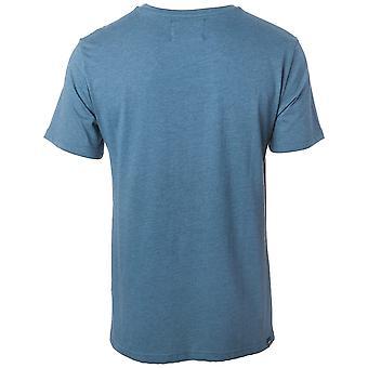 Rip Curl Big Mama Round Logo Short Sleeve T-Shirt in Indian Teal Marl
